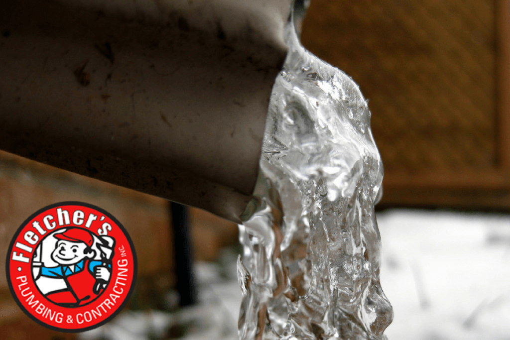 Learn how to prevent frozen pipes. Image: ice in a pipe.